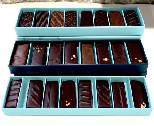 Réglettes de différents chocolats